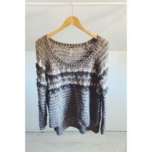Free People Slouchy Plush Fair Isle Sweater